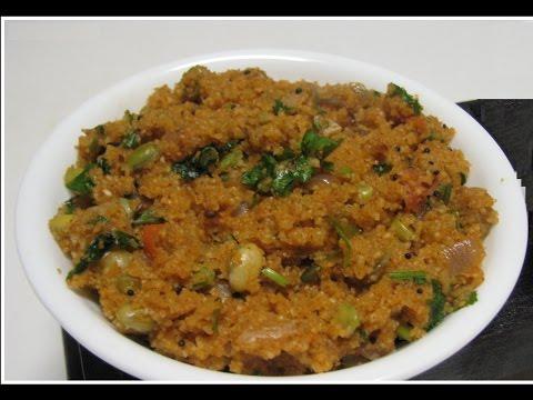 How to prepare masala Upma in Hindi
