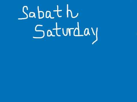 WELCOME TO SABBATH SATURDAY! A DAY OF HOLY REST AND WORSHIP