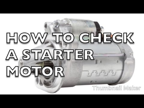 Top Tip Tuesday: How to check if a Starter Motor is Working