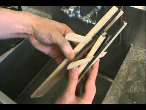 Making Wooden Salad Tongs