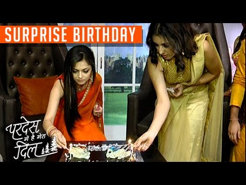 Drashti Dhami SURPRISE BIRTHDAY Celebration On Set   Pardes Mein Hai Mera Dil