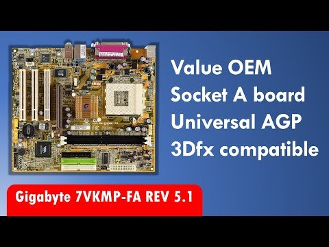 Gigabyte GA-7VKMP-FA Socket 462 A motherboard with universal AGP and Japanese capacitors
