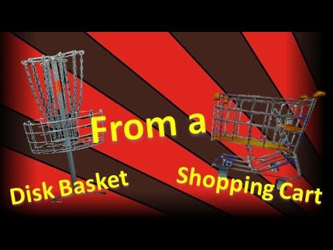 How to Make a Disc Golf Basket Out of a Shopping Cart