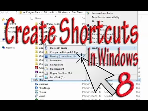 Create Desktop Icon Shortcut for Windows 8 New Applications . easy steps