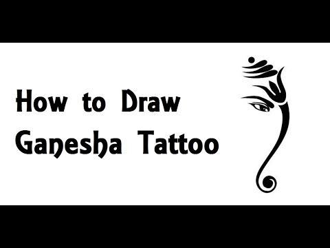How to Draw Lord Ganesha tattoo Drawing step by step