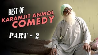 Best of Karamjit Anmol Comedy (Part-2) | Top Punjabi Comedy Scenes | Manje Bistre | Saga Music