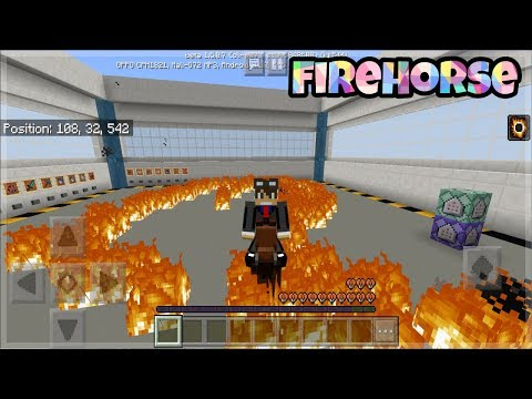 Minecraft PE: Working FireHorse Tutorials