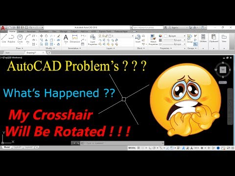 How to Rotate Crosshair In AutoCAD / SNAPANG Command /AutoCAD Tips & Tricks