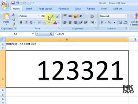 How to increase or Decrease Font Size in Excel tutorial part 6