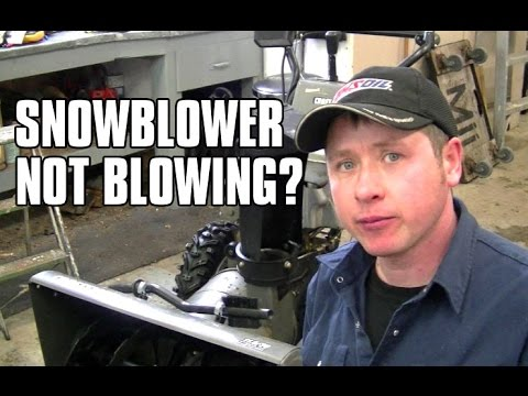 HOW-TO Quickly Diagnose A Snowblower That Won't Blow Snow!