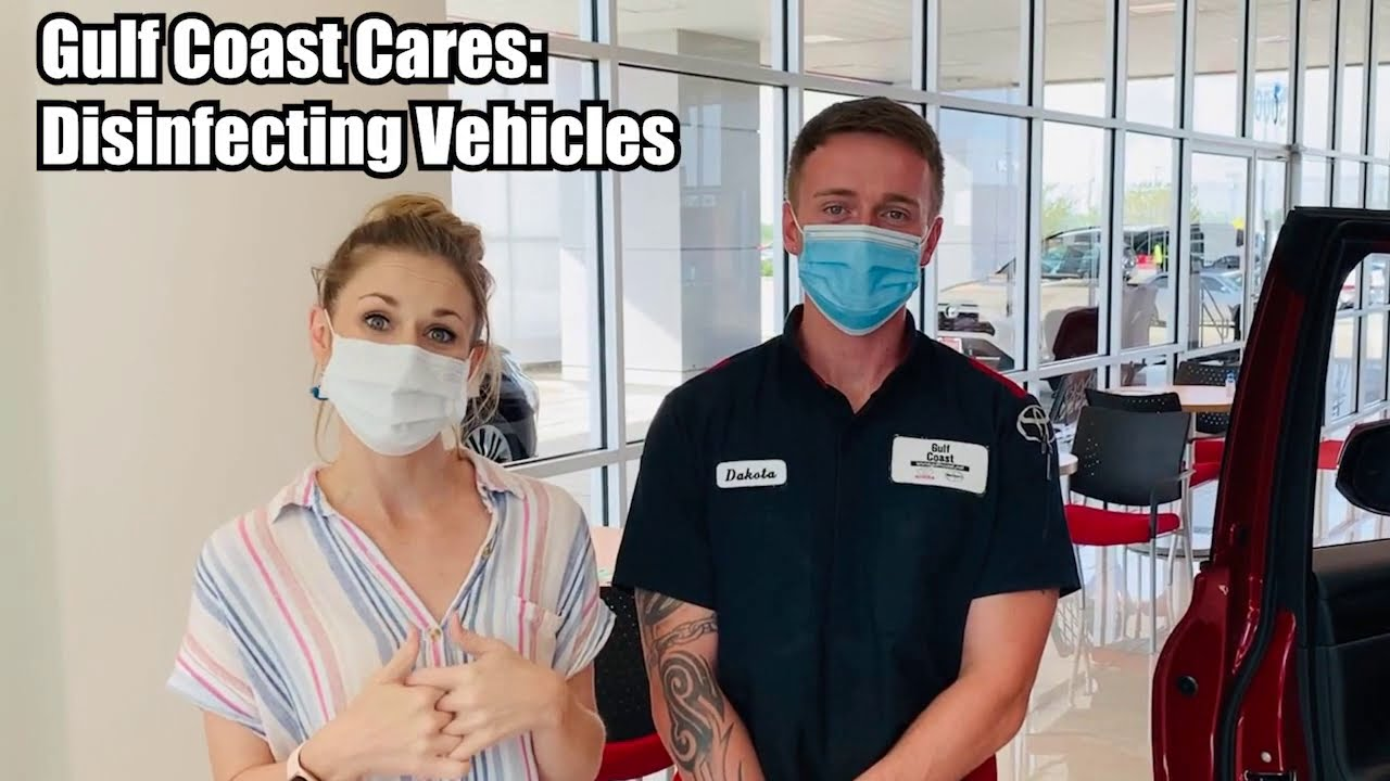 Gulf Coast Cares - Disinfecting Vehicles