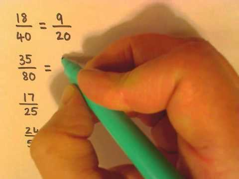 converting fractions to simplest form