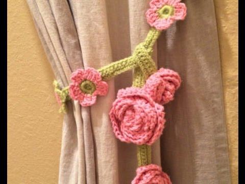 Crochet Flower CURTAIN TIE-BACK