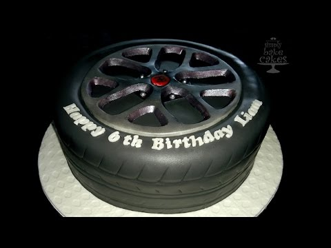 How to make a Bugatti Tyre cake - Tutorial