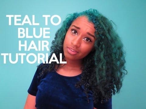 Teal to Blue Ombre Hair Tutorial | OffbeatLook
