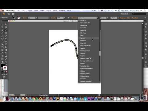 Type on Path Tutorial - Illustrator CS6