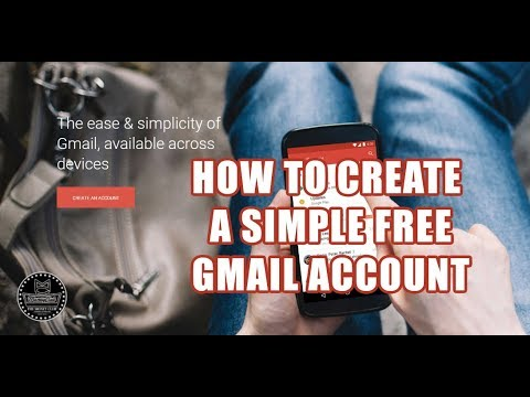 MCA - How To Create A Simple Gmail Account - 2018 (Beginner Tutorial)