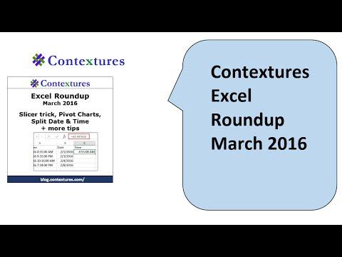 Excel Roundup 20160306