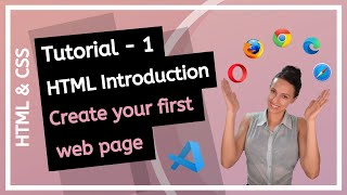 HTML \u0026 CSS (2020) - Introduction to HTML! How to create first web page? - Beginner course