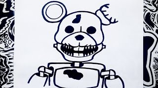 Como Dibujar A Blank De Five Nights At Candys How To Draw Blank