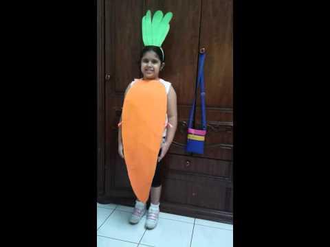 Fancy dress carrot