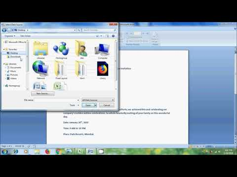 Excel 2007: how to prepare and print letters using mail merge