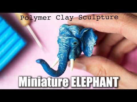 Polymer Clay Elephant Sculpture // Speed Sculpting