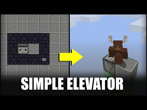 How to Make a Simple Elevator in Minecraft