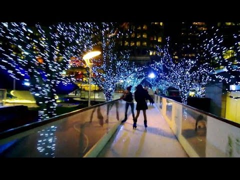 Christmas lights 2016 London Canary Wharf