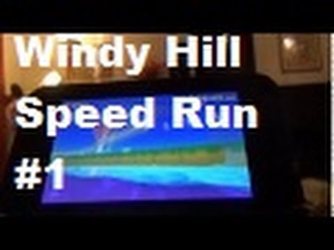 Sonic Lost World 3DS Windy Hill Zone 1 Speed Run Sonic & Super Sonic