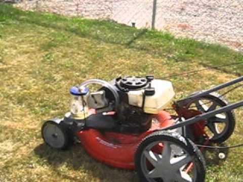 Lawn Mower Running On Gasoline Vapor