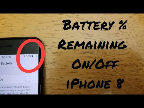 How to turn on/off battery percentage remaining iPhone 8 / 8 Plus, X (10), 7 / 7 Plus