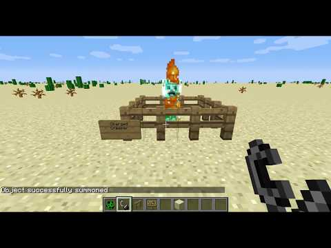 Minecraft- Charged creeper explosion