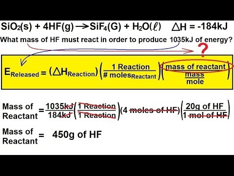 Chemistry - Thermochemistry (17 of 37) Heat Released (Evolved) in a Reaction 4