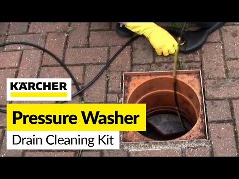 How to unblock a drain: Karcher Drain Cleaning Kit accessory