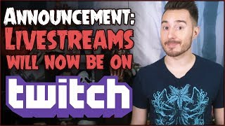 Livestreams Moving to TWITCH!