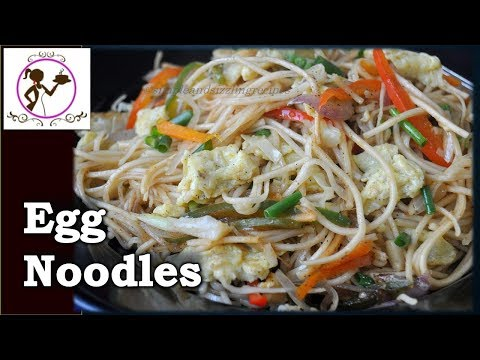 Egg/Veg Hakka Noodles Recipe | Egg/Veg Chowmein - Popular Kolkata Street Food