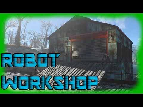 Fallout 4 - Robot Workshop using Warehouse Sturcture - Build over Water in Egret Tours Marina!