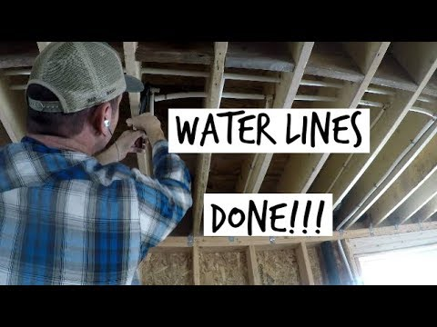 DIY Home Build: Hot And Cold Water Pipes DONE! (Pex)