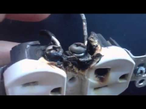 Aluminum Wiring Dangers: a Burned Outlet and Copper to Aluminum Wire Connectors For Permanent Repair