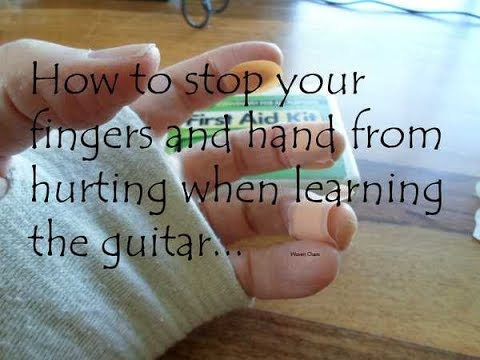 How to stop your fingers and hand hurting as much when playing guitar.  A technical tip tutorial.