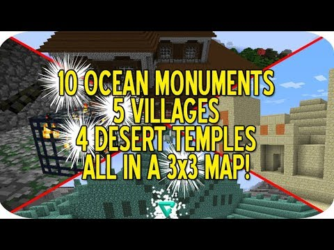 BEST EVER MINECRAFT SEED? 10 OCEAN MONUMENTS, 5 VILLAGES. 4 DESERT TEMPLES