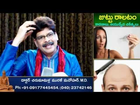 Hair Fall, Causes and Ayurvedic Treatments in Telugu by Dr. Murali Manohar Chirumamilla, M.D.