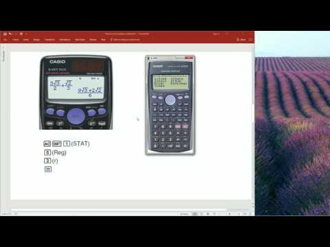 Calculating Pearson's r using Casio fx-82es