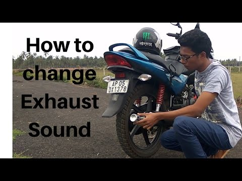 How to change the exhaust sound of an ordinary bike|Motorcycle Exhaust Louder|Duke Exhaust|2017|