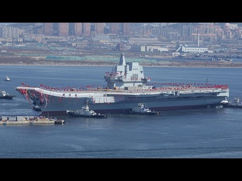China just unveiled its first homemade aircraft carrier