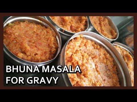 How to Make Bhuna Masala (in bulk) for Gravy Vegetables |  Basic Gravy Masala | Healthy Kadai