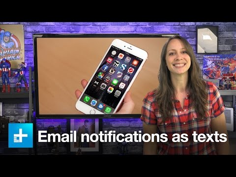 How to recieve email notifications as text messages