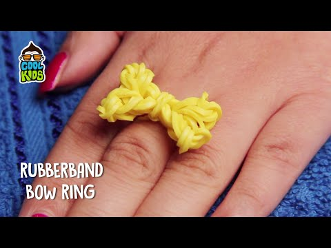 Rubber band diy | Rubber band Bow ring | How to make loom bands | Loom bands Tutorials