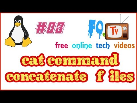 cat command |  Concatenate files and print on the standard output